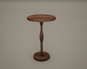 Small Table Low Poly Game Ready 3D model low-poly