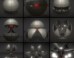 3D model Sphere bot with Animations