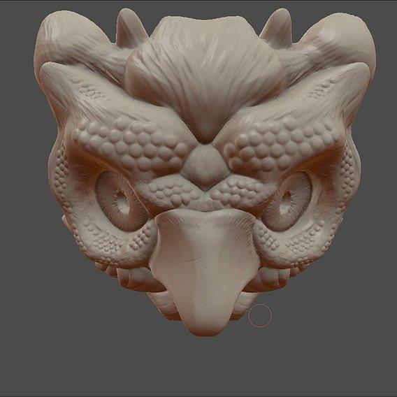 Owl Mask illusion ( Finished )