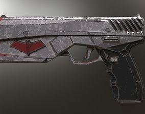 Red Hood Maxim 9 Pistol STL file 3D print model