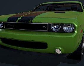 3D model game-ready Dodge Challenger 2009