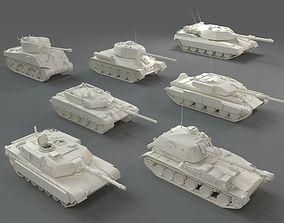 Tanks - 7 pieces - part-3 3D model