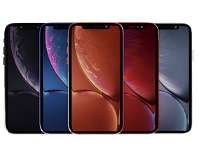 3D model iPhone XR Collection all colors