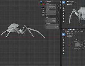 Low Poly Spider 3D Printable