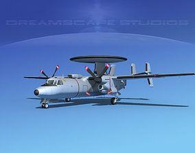 3D model Grumman E-2C Hawkeye V18