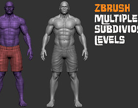 MMA Fighter and bodybuilder 3D model