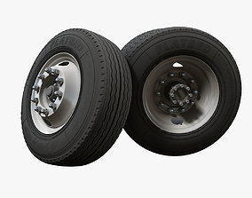 Truck steel wheels 3D