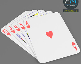 3D model Heart royal flush