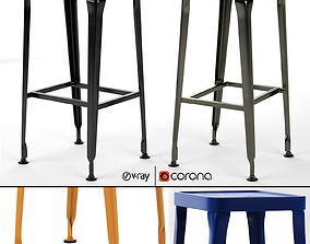 CARBON BAR STOOL Industry West 3D