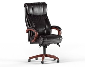 Leather Executive Office Chair 3D model game-ready