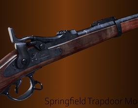 3D asset Springfield Trapdoor model 1884