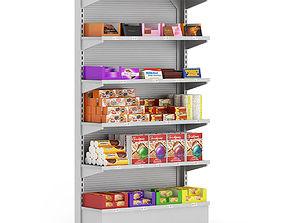 3D model Market Shelf Cookies and Chocolates