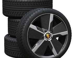 3D Porsche wheels car