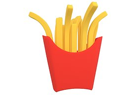 3D asset French Fries v2 001
