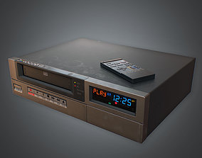 3D model VR / AR ready VCR VHS Player 02 80s