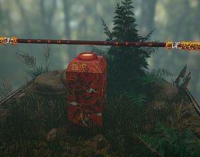 3D asset Monkey King-Sun Wukong Bo and Weapon Rack