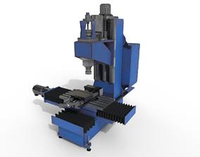 Milling machine 3D asset