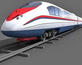3D Red Speed Train 4
