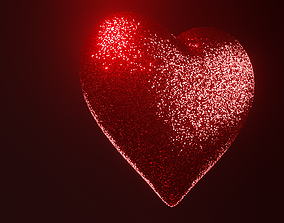 brilliant 3D Glitter heart