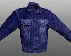 Jacket Jeans Closed low poly 3D model game-ready
