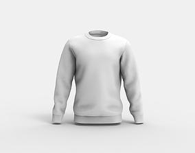 Men Jumper - Sweatshirt - Marvelous Designer 3D model