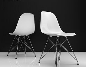 3D Eames DSR plastic side chairs