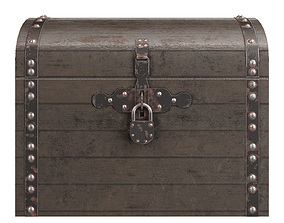 Old chest 3D asset VR / AR ready various-models
