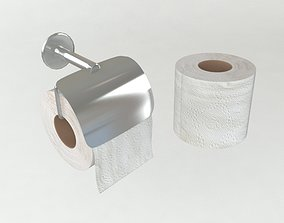 3D asset Toilet paper and Holder