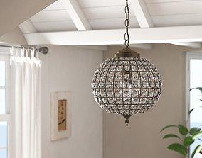 3D Antique Brass Barton 1 - Light Globe Pendant