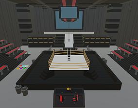 3D asset Low Poly Wrestling Pack