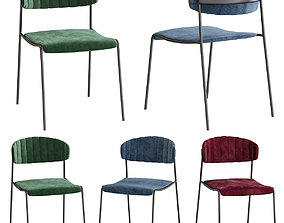 game-ready Caistor Upholstered Dining Chair 3d model