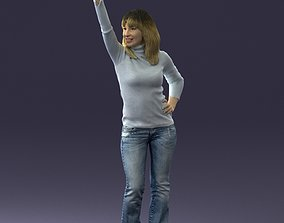 Hand up woman 0927 3d figurine model