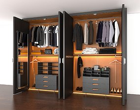 3D Modern Wardrobe Closet