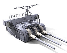 Gun for yamato and musashi NENDO SHIKI 3D print model 2