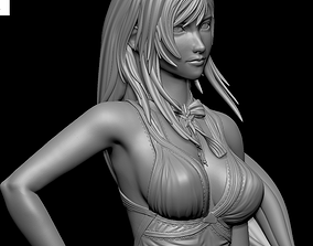 Tifa Lockhart PURPLE DRESS Final Fantasy 3D print model 3