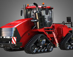 3D model Quadtrac 470 Articulated Tractor - With Rubber 1