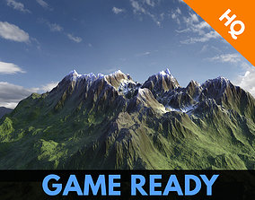 Mountains 3d Model Modular Game Ready VR AR Low low-poly 2