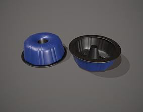 3D asset Blue Funnel - Bundt Cake Tin