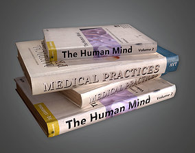 Medical Books HPL - PBR Game Ready 3D asset classroom