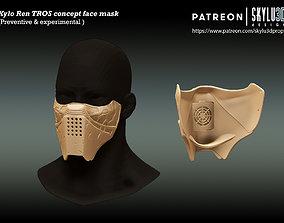 Kylo Ren Concept Face Mask - 3D printable model 2