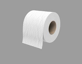 Toilet paper - white 3D