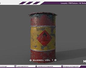 3D asset Barrel Vol 04