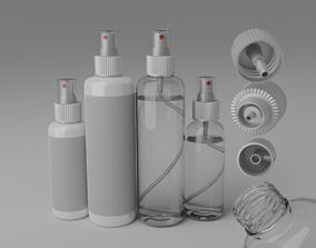 3D model pump spray bottle
