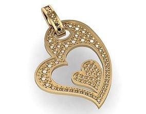 3D printable model beautyful pendant with heart