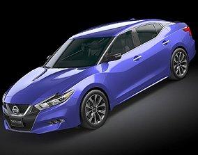 3D model HQ LowPoly Nissan Maxima 2016