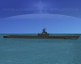 3D Gato Class Submarine SS-229 USS Flying Fish
