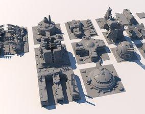 3D Sci Fi Buildings