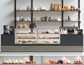 Coffee shop design 3D model products