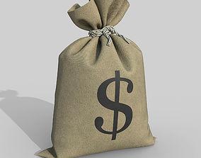 3D model PBR Money Bag
