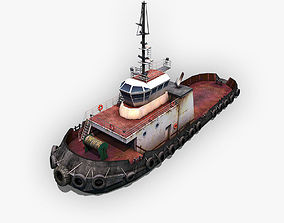 Tugboat 3D asset realtime